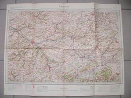 Carte Service Géographique Des Armées 1912 AMIENS SAINT QUENTIN LAON BAPAUME MONTDIDIER PERONNE NOYON DOULLENS HAM POIX - Geographical Maps
