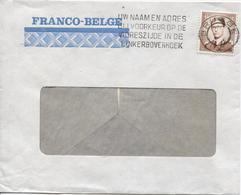REF911/ TP 1068A Baudouin Lunettes S/L.Franco-Belge C.Brugge Oblitération Sans Date/annulering Zonder Datum + Flamme - Belgien