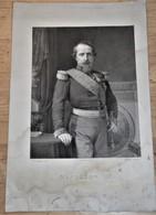 Rare  Gravure Imprimée De L'empereur Napoléon III - Old Paper