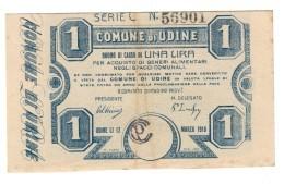 Comune Di Udine 1 Lira 1918  LOTTO  1374 - [ 6] Kolonies