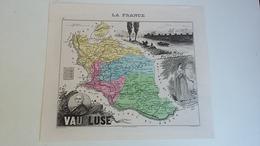 Carte Illustrée Plan Géographique - Descriptif - Le Vaucluse  - Département France -  Edit Vuillemein 1890 - - Cartes Géographiques