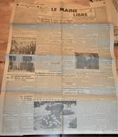 Rare Journal Le Maine Libre 19 Septembre 1944 Bande Au Dos Sur Le Massacre D'Ouradour Sur Glane - 1939-45