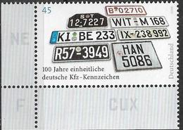 2006 Allem. Fed. Deutschland  Germany  Mi. 2551 **MNH EUL  100 Jahre Einheitliche Deutsche Kfz-Kennzeichen. - [7] République Fédérale