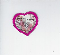 Saint-Valentin Coeur Ungaro Adhésif N° 266 Oblitéré 2009 - Luchtpost