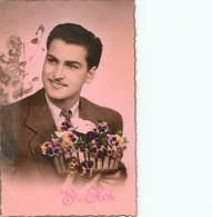 SAINT ELOI - Homme à Moustaches Avec Panier De Pensées - Tirage Rose - Andere