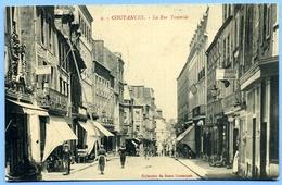 CPA 50 Manche Coutances Rue Tancrède (rare) - Coutances