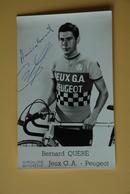 CYCLISME: CYCLISTE : BERNARD QUERE Signée - Ciclismo