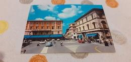 CARTOLINA RIETI- PIAZZA VITTORIO EMANUELE ALBERGO QUATTRO STAGIONI- VIAGGIATA 1970 - Rieti