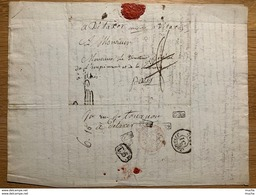 60096 - Lettre Département Du Finistère Quimperlé 29 Janvier 1815 Pour Directeur De L'imprimerie Paris - Documents Historiques