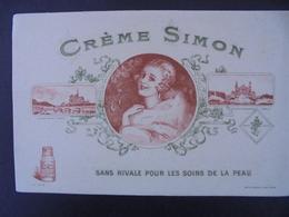 BUVARD - CREME SIMON - PARIS : NOTRE DAME ET PALAIS DU TROCADERO - Vloeipapier