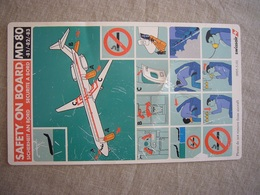 Avion / Airplane / SWISSAIR / MD 80-81-82-83 / Safety Card / Consignes De Sécurité - Consignes De Sécurité