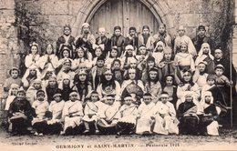 CPA, Germigny Et Saint-Martin, Pastorale 1924, Animée - Saint Martin Du Tertre