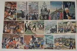 [BRETAGNE] LOT De 14 Cartes Postales Illustrées Par Charles HOMUALK - Homualk