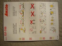 Avion / Airplane /  LAUDA AIR / Boeing B 737-700 / Safety Card / Consignes De Sécurité - Scheda Di Sicurezza