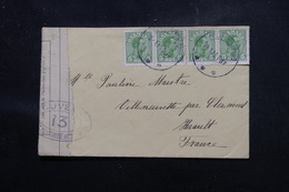 DANEMARK - Enveloppe De Charlottenlund Pour La France En 1916 Avec Contrôle Postal, Affranchissement Plaisant - L 58495 - Briefe U. Dokumente