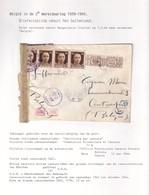DDW987 - INCOMING MAIL - Lettre TP Italie BARGA 1944 Vers ANTWERPEN - Censure Allemande - Guerra '40-'45