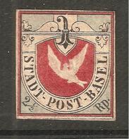 COLOMBE DE BÂLE Neuve Reproduction Voir Attest + Desciption - 1843-1852 Federal & Cantonal Stamps