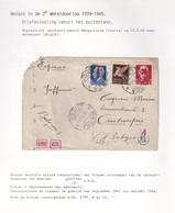 DDW990 - INCOMING MAIL - Lettre EXPRES TP Norvège Italie BARGA 1944 Vers ANTWERPEN - Censure Allemande - Guerra '40-'45