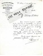 08 - Ardennes - AUTRY - Facture BROGNE - Scierie, Exploitations Forestières - 1912 - REF 138A - 1900 – 1949