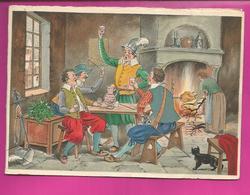 CP Double - BARRE-DAYEZ N° 12572 B Hommes Buvant Un Coup Dans Une Taverne, Scène Populaire - Contemporain (à Partir De 1950)