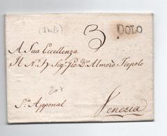 1813 - LETTRE De DOLO Pour VENEZIA - 1. ...-1850 Prephilately