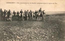 MAROC  CASABLANCA  Une Reconnaissance De Spahis Indigènes Dans La Région Du Tirs - Casablanca