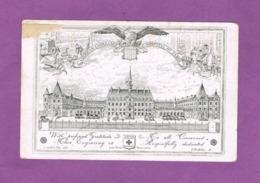 CARTE MENU 14 Juillet 1917. AMERICAN AMBULANCE-HOSPITAL OF PARIS. Lycée PASTEUR NEUILLY SUR SEINE. - Militaria
