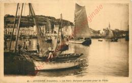 29.  AUDIERNE . Le Port . Barques Partant Pour La Pêche . - Audierne