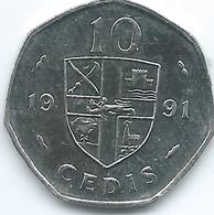Ghana - 10 Cedis - 1991 - KM29 - Ghana