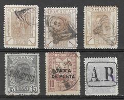 Roumanie 6 Timbres Oblitérés Ou Avec Marques Postales - Poststempel (Marcophilie)