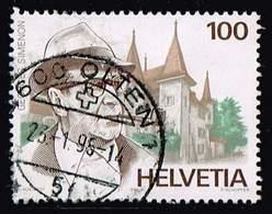 Schweiz 1994,Michel# 1535 O  Georges Simenon - Usados