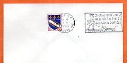PARIS  CHIENS DE TOUTE RACE..   1963 Lettre Entière N° PQ 238 - Mechanische Stempels (reclame)