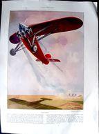 AVIATION GEO HAM  4 PAGES MAGNIFIQUEMENT ILLUSTREES PAR GEO HAM  ISSUES DE L'ILLUSTRATION 1930 DECORATIF - Aviation
