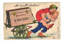 CPA 53 SAINTE SUZANNE Carte à Système Dépliant Vues INCOMPLET Humour Couple Déménagement Malle - Sainte Suzanne