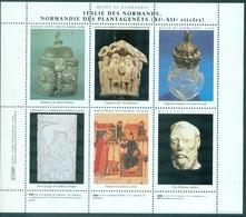 Musee De Normandie BF De 6 Vignettes N Xx (froissure Verticale Sinon Tb) - Erinnophilie