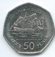 Gibraltar - Elizabeth II - 50 Pence - 2004 - 300th Anniversary Of British Occupation - KM1050 - Gibilterra
