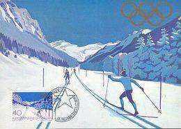 Liechtenstein - Nr.11 Olympiade Winter 1979 - Lake Placid 1980, 3 Karten - Maximumkarten (MC)