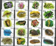 SRI LANKA, 2020, MNH, ENDANGERED SPECIES , BUTTERFLIES,SPDIERS,  REPTILES, FROGS, SHARKS, FISH, BIRDS, FLORA, 20v - Frogs