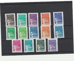 FRANCE **LUXE MNH SERIE COMPLETE N° 3086/3099 COTE 19.00 EUROS - France