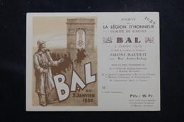 FRANCE - Carte D'entrée De La Société De La Légion D'Honneur Pour Le Bal De Nantes En 1932 - L 58534 - Documents