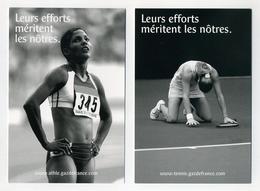 Lot De 3 CP Pub Neuves Gaz De France. Tennis Athlétisme. Christine Arron, Amélie Mauresmo, Nathalie Dechy. Voir 2 Images - Cartoline