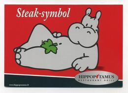 Lot De 3 CP Pub Neuves - Hippopotamus - Restaurants Restauration Hippopotame Nilpferd Revolution - Voir 2 Images - Advertising