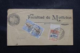 URUGUAY - Fragment De La Faculté De Médecine De Montevideo, Affranchissement Plaisant Surchargés Perforés - L 58536 - Uruguay