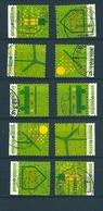 [2068] Zegels 3911 - 3915 Gestempeld - Belgium