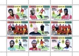 GUINEA - FOOTBALL - 2008 - Footballer #1 - Perf 9v Sheet - M N H - Guinee (1958-...)