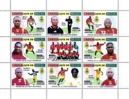 GUINEA - FOOTBALL - 2008 - Footballer #2 - Perf 9v Sheet - M N H - Guinee (1958-...)