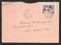 2001 POLYNESIE FRANCAISE SIDA SOLIDARITE' ILE DE TAHITI - Brieven En Documenten