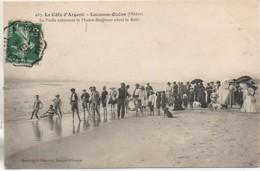 33 LACANAU-OCEAN  La Foule Entourant Me Maitre Nageur Avant Le Bain - Other Municipalities
