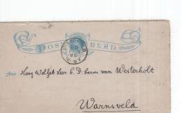 Dinxperlo 25 AUG 90 - Warnsveld - Postblad Geuzendam - Postal History