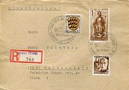 53457 Germany Zone Francaise Rheinland Pfalz, Circuled Registered Cover 1947 From Landau Tag Der Briefmarke - Französische Zone